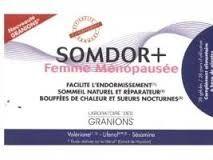 granion Somdor+ femme ménopausée 28 gélules Facilite l'endormissement Sommeil naturel et réparateur Bouffées de chaleur et sueurs nocturnes