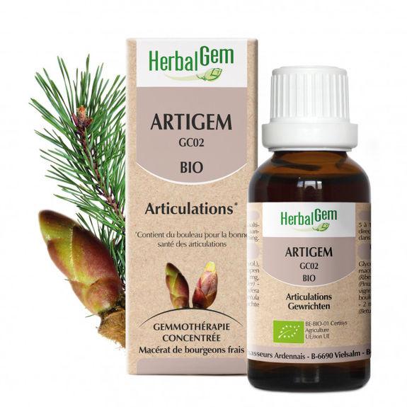 Herbalgem Artigem Bio 30ml complexe articulations Pour le maintien de la souplesse des articulations