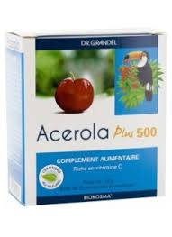 le toucan Acérola Plus 500 - 96 comprimés Dr Grandel Le Toucan Sans gluten, Sans lactose, Sans levure