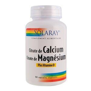 Solaray Calcium magnésium Vitamine D - 90 capsules végétales Solaray propose une synergie idéale qui contribue à maintenir une ossature normale et l'éclat de votre peau.