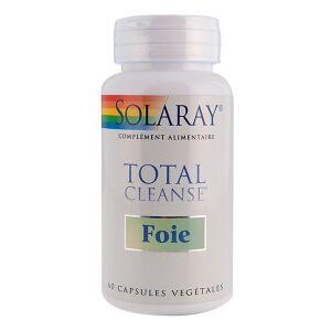 Solaray Total Cleanse foie - 60 capsules végétales Complément alimentaire naturel à base de plantes (chardon-marie), de vitamines et minéraux utilisé pour soulager le foie