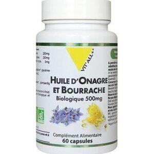 Vitall+ huile d'Onagre et Bourrache Bio 500mg L'huile d'Onagre participe à la beauté de la peau et à l'équilibre hormonal.