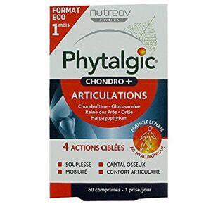 nutreov Phytalgic Chondro+ 60 comprimés Complément alimentaire, à base d'ortie, harpagophytum, de reine des près, glucosamine et du sulfate de chondroïtine.