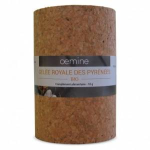 Oemine Gelée royale bio des Pyrénées - 10 Grammes Pure gelée royale biologique des Pyrénées