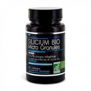 aquasilice Nutrivie silicium bio en Micro granules 60 gélules Synergie de 2 plantes qui par leurs vertus respectives vont permettrent un apport maximum en silicium.