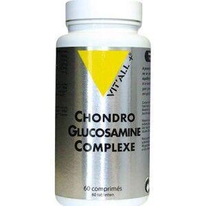Vitall+ Chondro-Glucosamine Complexe 60 comprimés La Chondroitine, est un des constituants essentiels du cartilage avec le collagène et l'acide hyaluronique.