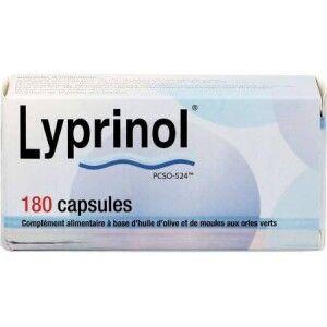 HEALTH PREVENT Lyprinol 180 Capsules Health Prevent Complément alimentaire à base d?huile d?olive et de moules aux orles vert.