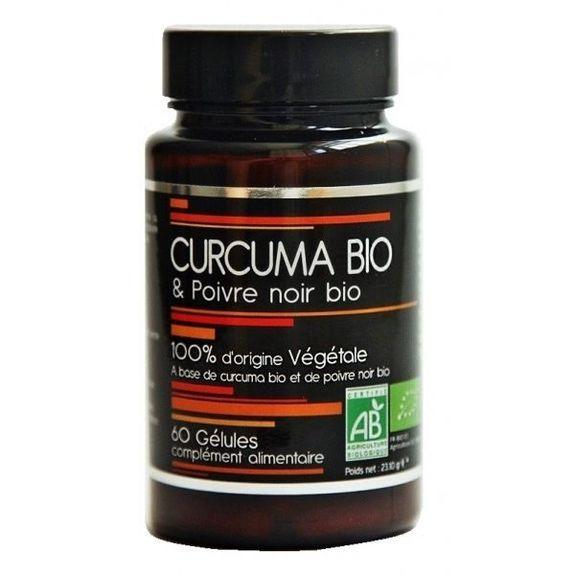 abiocom Nutrivie Curcuma bio et poivre Noir bio 60 gélules 100% d'origine Végétale
