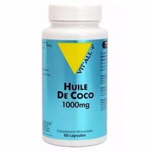 Vitall+ Huile De Coco 1000mg 60 comprimés L'huile de Coco est non-hydrogénée et conserve toutes ses qualités nutritionnelles.