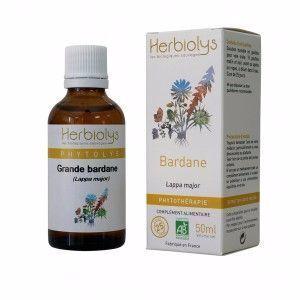 Herbiolys Bardane racines 50ml Bio Extrait de plante bio, fraiche (non surgelé).