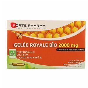 Forte Pharma gelée Royale bio 2000mg 20 ampoules de 15ml Apporte un coup de pouce à votre organisme.