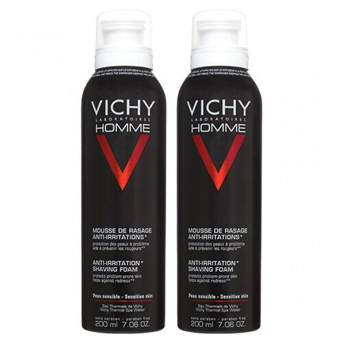 Vichy Mousse à Raser Anti-irritations Vichy Homme 2x200ml