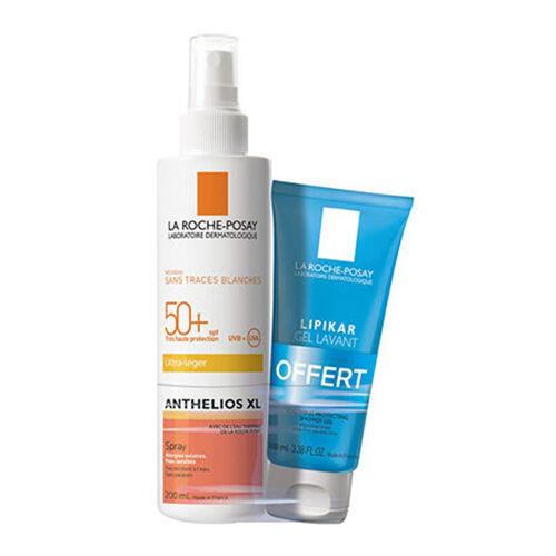 La Roche-Posay Anthelios  50+ spray Ultra léger + Gel lavant Lipikar 100 ml offert