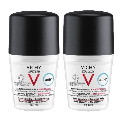 Vichy Déodorant Homme 48h Anti-Transpirant Vichy x2