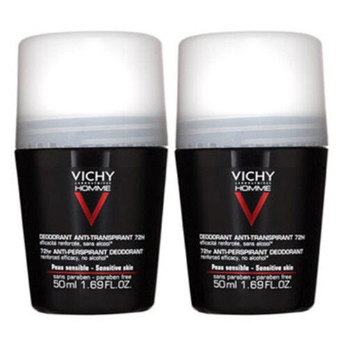 Vichy homme déodorant bille anti-transpirant 72H x 2