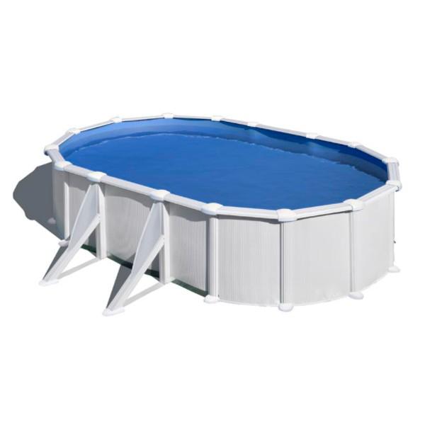 Gre Piscine Atlantis ovale - 6,10 x 3,75 m x 1,32 m - Gre - Piscine acier