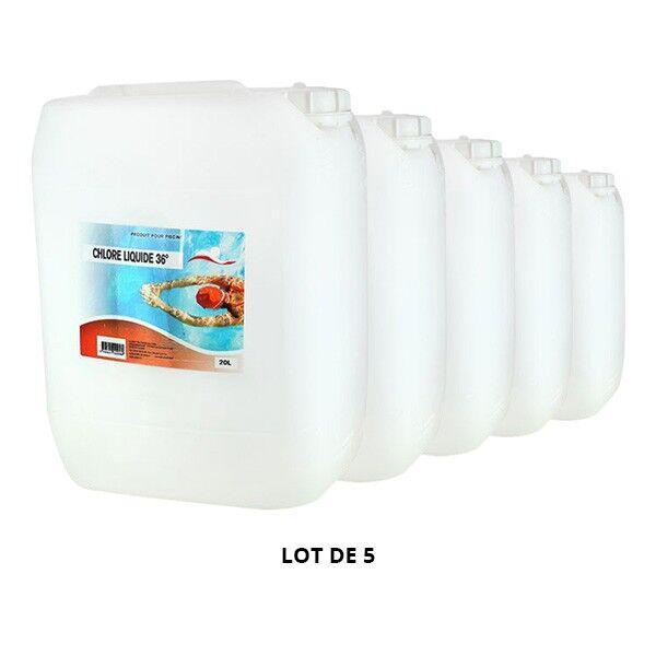 Swimmer Produits chimiques Chlore liquide - 5x20L - Swimmer