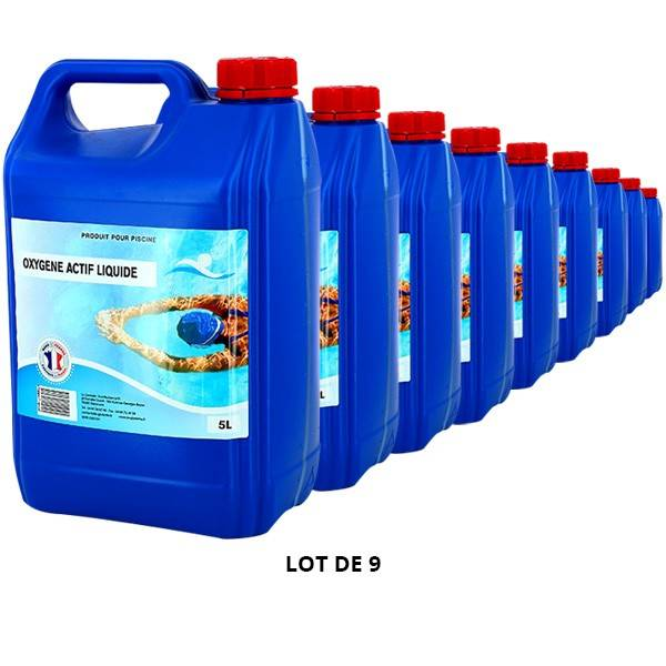 Swimmer Produits chimiques Oxygène actif liquide - 9x5L - Swimmer