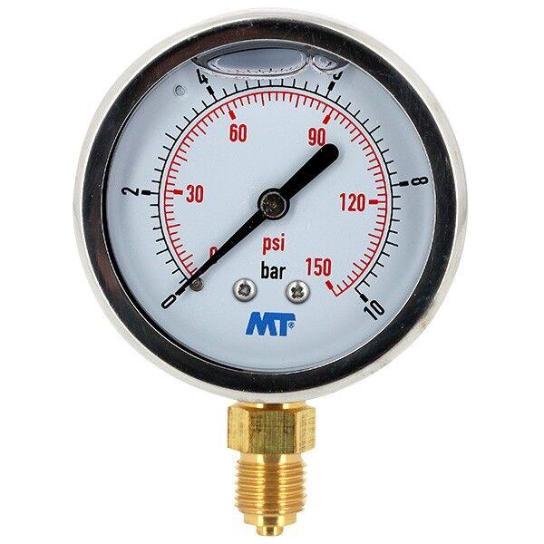 Générique Manomètre - Manomètre à bain de glycérine 0-10 bars - Ø50 - Radial - Générique