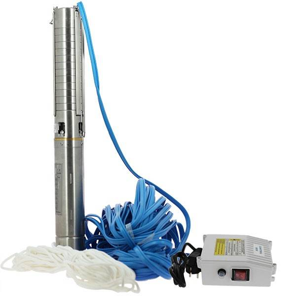 Générique Pompe de forage - 4SPM5/12 - 1,1 kW - 40 m - Turbines inox - Générique