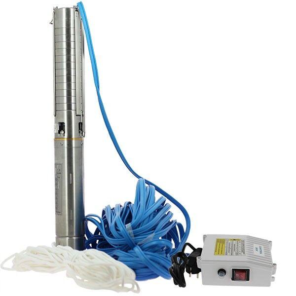 Générique Pompe de forage - 4SPM5/15 - 1,3 kW - 40 m - Turbines inox - Générique