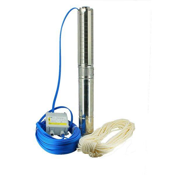 Pompe de forage - SX3-18 - Turbines inox - 1,1 kW - 50 m -