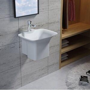 Distribain Vasque suspendue en solid surface Réf : SDN2 - Publicité