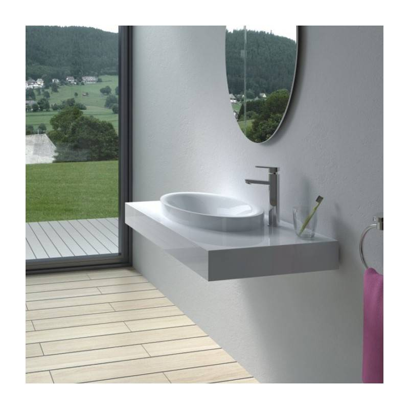 Distribain Plan vasque solid surface Réf : SDPW13-B