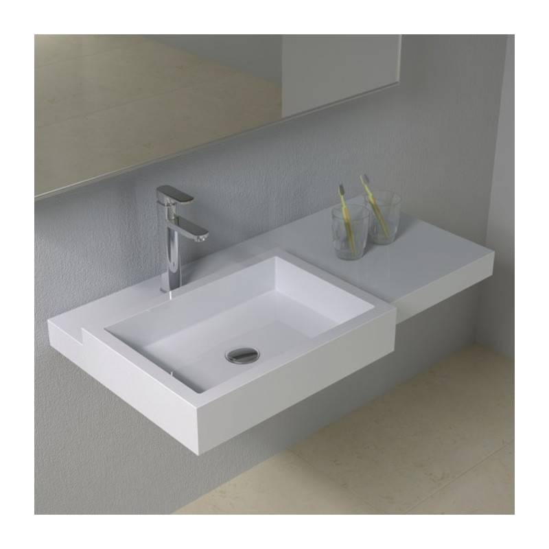 Distribain Plan vasque solid surface Réf : SDPW48
