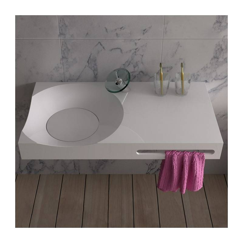 Distribain Plan vasque solid surface Réf : SDPW13-E