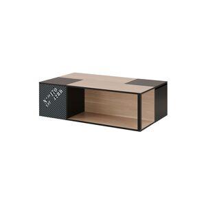 Tousmesmeubles Table basse avec rangements - BRENDA - L 120 x l 70 x H 37 - Publicité