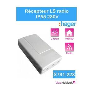 HAGER Récepteur radio IP55 - S781-22X - Logisty Hager - 230V - Publicité