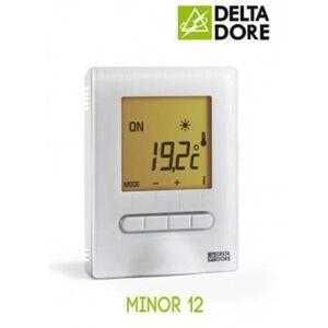 Delta Dore - MINOR 12 : Thermostat digital semi-encastré pour plancher ou plafond rayonnant électrique - 6151055 - Publicité