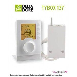 DELTA DORE TYBOX 137 Thermostat programmable Radio pour chaudière ou PAC non réversible - Delta Dore - 6053007 - Publicité