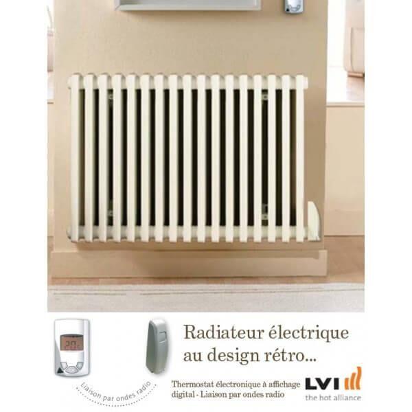 LVI Radiateur LVI - EPOK H - 750W FLUIDE - Horizontal (haut.600) - 3630607