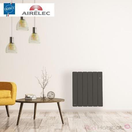 AIRELEC Radiateur Fonte AIRELEC - FONTEA Smart ECOControl 750W Horizontal Gris Anthracite - A693542