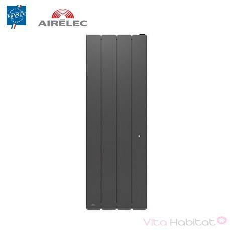 AIRELEC Radiateur Fonte AIRELEC - FONTEA Smart ECOControl 1500W Vertical Gris Anthracite - A693555