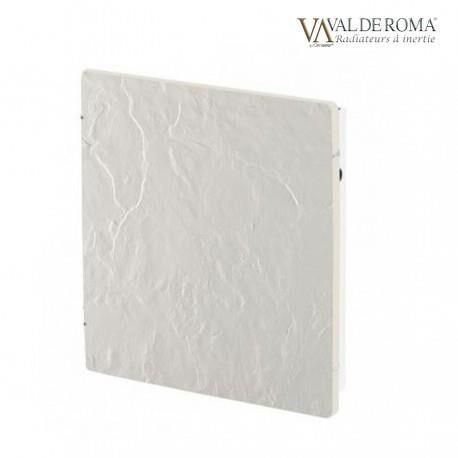 VALDEROMA Radiateur à inertie TACTILO Carré Ardoise Blanche 800W - Valderoma AB0800A