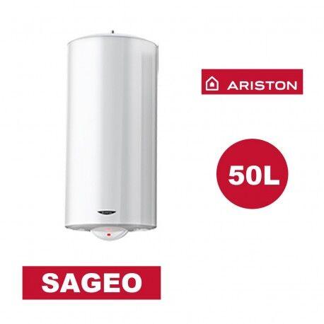 ARISTON Chauffe-eau électrique vertical mural Sagéo 50 l - Ø 470 mm - ARISTON 3200834