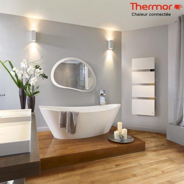 THERMOR Sèche-serviettes électrique Thermor SYMPHONIK blanc - 1750W (700 + 1000) mât à gauche - 492611