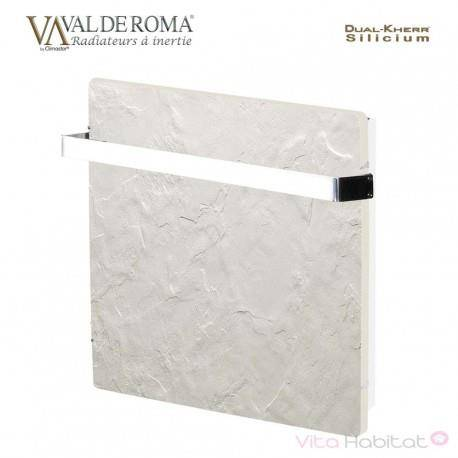 VALDEROMA Sèche-serviette à inertie Wifi Ardoise Blanche 1000W Carré - Valderoma AB10BSW