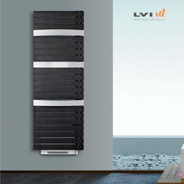 LVI Sèche-serviettes Soufflant LVI - SILAY RF T SMART 1700W (750W + 950W) FLUIDE - 4870062 ouverture des tubes à gauche