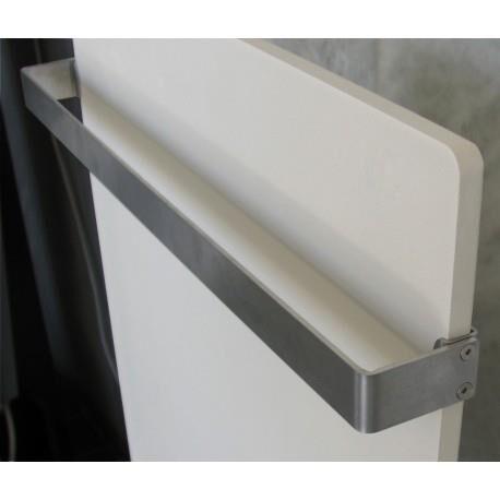 VALDEROMA Barre sèche-serviette Inox pour radiateur VALDEROMA longeur 51cm profondeur 8cm - SS8050B