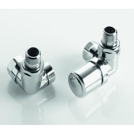 ACOVA Pack robinetterie manuelle thermostatisable équerre d'angle droit pour sèche-serviettes - ACOVA 991498