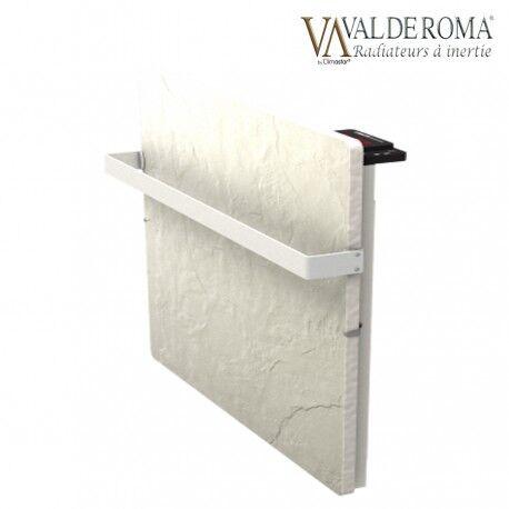 VALDEROMA Sèche-serviettes à inertie TACTILO Carré Ardoise Blanche 800W - Valderoma AB08BSA