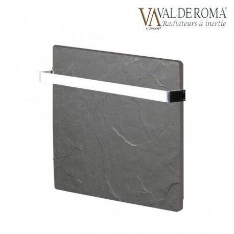 VALDEROMA Sèche-serviettes à inertie TACTILO Carré Ardoise Noire 800W - Valderoma AN08BSA