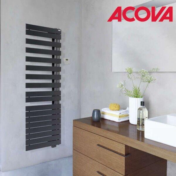 ACOVA Sèche-serviette ACOVA - Fassane Spa Twist asymétrique à droite electrique 750W - TFRT075-055/GF