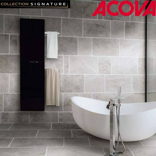 ACOVA Sèche-serviette ACOVA Versus Noir electrique 750W VSB-175-048