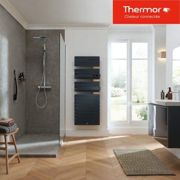 THERMOR Sèche-serviettes soufflant Thermor ALLURE 3 Virtuose - 1750W (750+1000) mât à droite - 483095