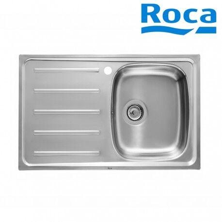 ROCA Évier de cuisine 1 bac avec égouttoir en Inox- ROCA A870H40801
